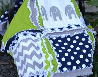 Car Seat Cover PATTERN - Simple Baby Rag Quilt Instructions - How to Sew a Rag Quilt Pattern - Rag Quilt Pattern - Baby Shower Gift Idea