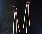 Brass + Copper Radiance Fringe Earrings- Ray- Sunshine- Light- Beam