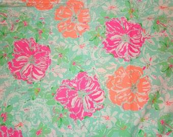 "5x5 Lilly Pulitzer inspired Spring 2016 ""Beachwalk"" Fabric"