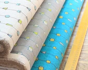 Japanese Designer Cotton Linen Blended Fabric Kokka Tayutou - Pendant - Half Yard