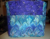 SO - JGRANT1221 purple blue stars design tote bag/purse/ diaper bag