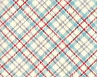 Treehouse Club (5635 21) Picnic Plaid Vanilla Red by Sweetwater