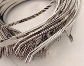 10 Silver Wire Headband 5mm for hat making handcovering stock ready to send Australia