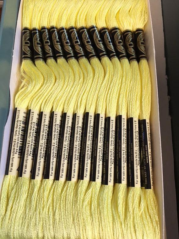 Dmc 445 Light Lemon Embroidery Floss 2 Skeins 6 Strand