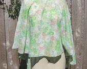 Vintage 1960s Sparkly Floral Poncho SALE