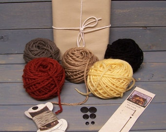 Doll Makin' Essentials Kit ET Tea Dyed Muslin-You Choose the Doll Hair Color
