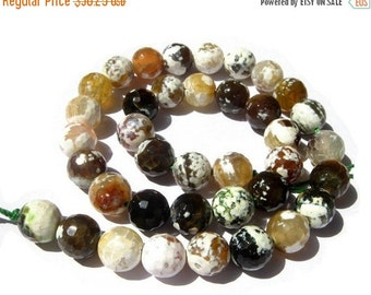 55% OFF SALE 14 Inches - Finest Quality Natural Shaded Brown Agate Faceted Round Beads, Size 14x14mm approx