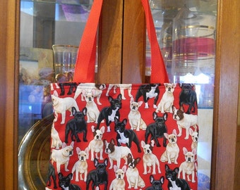 French Bulldog Tote Bag Dog Dogs Puppy Handmade Purse Very Limited