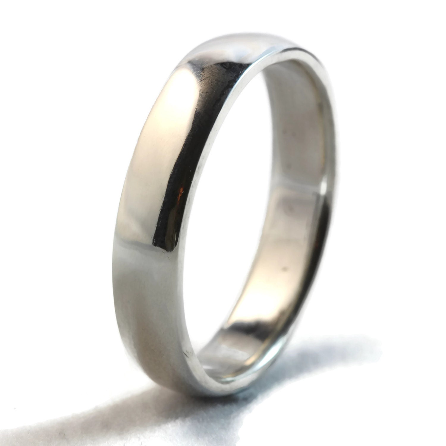 Sterling Silver Ring Wedding Band Mens Comfort Fit Wedding
