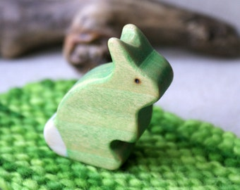 Wood n Wool Rabbit- Green