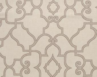 "Neutral Window Valance  - Covington Windsor Latte 54"" Fabric"
