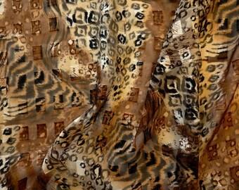Leopard Print Chiffon Fabric Yardage