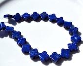 Lapis Clover 12mm Beads  4