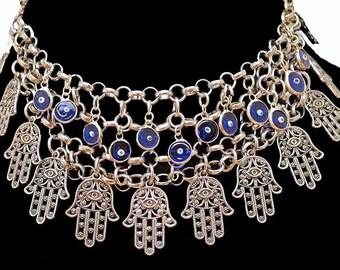 Evil Eye & Hamsa Protection Necklace
