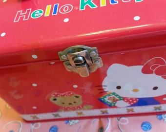 Hello kitty tin carry all