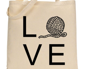 LOVE ~ Yarn Bag ~ Knitting Bag ~ Crochet Bag