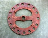 Antique Farm Tractor Cog, Rustic Yard Art, Assemblage Piece, Industrial Table Trivet