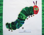 """VERY HUNGRY CATERPILLAR 22"""" Panel Caterpiller & Butterfly 2015 Multi Color Cotton Quilt Fabric Eric Carle"""