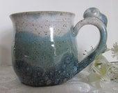 Bunny Handle 8 Ounce Pottery Mug