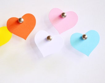Heart Tags {25} Large Pastel Blank Labels Scrapbooking Embellishments Housewarming New Baby Shower Childrens Party Wrap