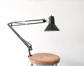 Modern Black Task Drafting Desk Light with Clamp