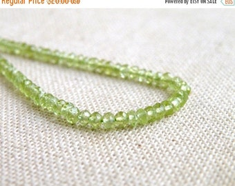 Mega SALE Exceptional Peridot Gemstone Faceted Rondelle Green 3mm 150 beads Full Strand