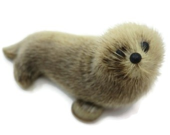Vintage Toy Seal - Fur Animal, Norway