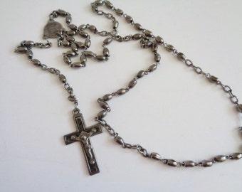 Vintage Metal Rosary  Prayer Beads