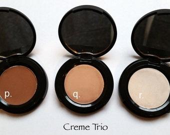 Natural PRESSED EYESHADOW Cremé Trio *Gentle Vegan Mica-Free Eyeshadow Eyeliner*