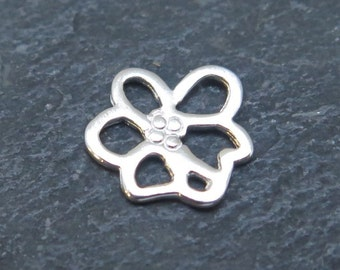 Sterling Silver Cherry Blossom Connector 9mm (CG8436)