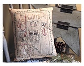 Winter Sampler-Primitive Stitchery  E-PATTERN by Primitive Stitches-Instant Download