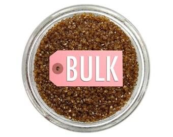 Brown Sanding Sugar BULK (1lb) - brown fine sugar for decorating cupcakes, cakes, cakepops, and cookies