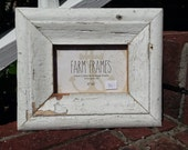 4 x 6 WHITE old vintage wood picture frame
