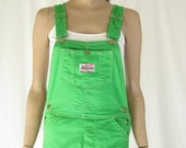 Vintage 70's Liberty Green Bib Overalls. Size X Small