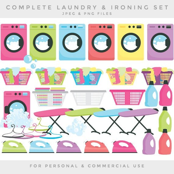 Clip Art Laundry Clip Art laundry clipart etsy clip art washing machine iron ironing detergent clothes bubbles commercial use chores household cleaning