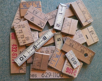 Vintage Wooden Ruler and Yardstick Pieces - 30 COUNT - Perfect for Use in a Variety of Creations