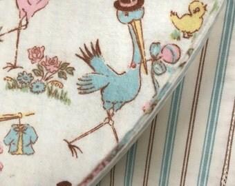 SALE Stork Burp cloth