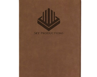 Leather Portfolio,Personalized Portfolio,Laser Engraved Professional Portfolio,Executive Gift,Leather Portfolio With Notepad