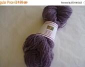 On Sale Purple Merino Handspun Yarn 190g/226yds