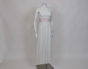 1960s dress / Vintage 60's Chiffon Cocktail Party Dress Gown