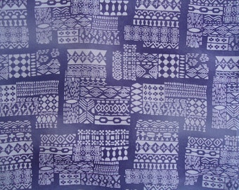 Kimono Silk Shades of Purple Geometric