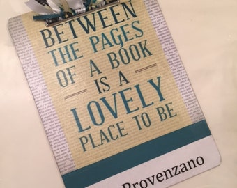 Personalized Clipboard Book Lover or Teacher Gift