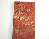 vintage hand marbled paper cover blank notebook
