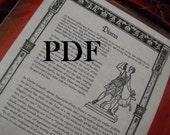 DIANA PDF -- Book of Shadows -- BOS page