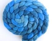 Merino/ Silk Roving (Top) - Handpainted Spinning or Felting Fiber, During the Day