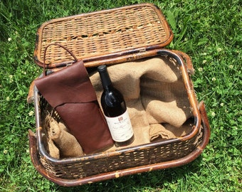 Oxblood Leather Wine Bag