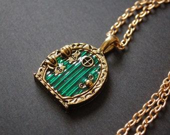 bronze hobbit hole necklace