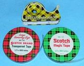 Vintage Metal Scotch Tape Dispensers Vintage Metal Tin Tape Dispensers