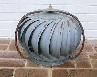Vintage Galvanized Turbine Vent Ventilator Vintage Industrial Turbine