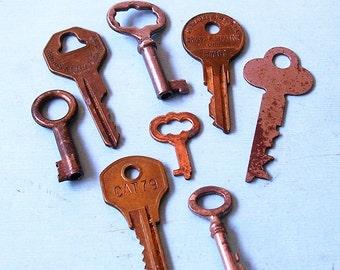 Antique Skeleton Key Keys Ornate Keys Skeleton Keys Industrial Key Keys Steampunk Keys DIY Jewelry Keys Barrel Keys